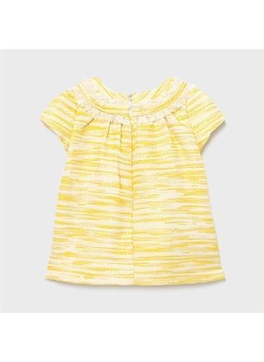 Mayoral Mayoral Kiz Bebek Elbise Sarı 20885 Sarı